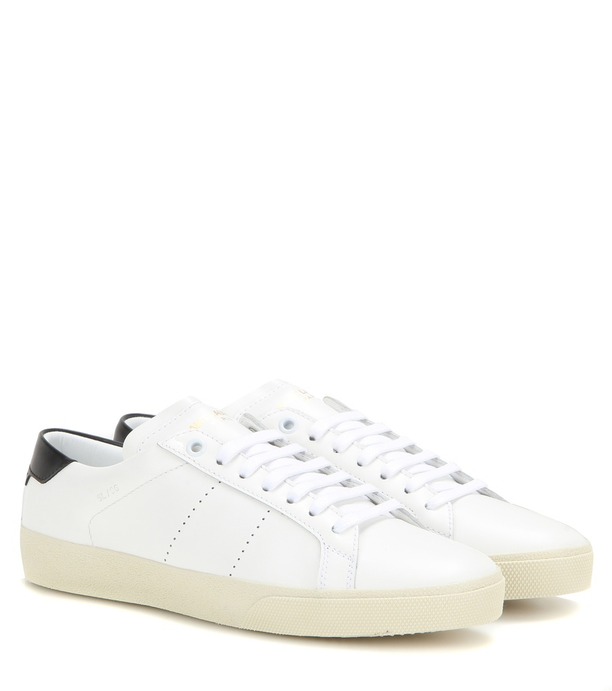 Sl/06 Leather Sneakers - predominant colour: ivory/cream; occasions: casual, activity; material: leather; heel height: flat; toe: round toe; style: trainers; finish: plain; pattern: plain; season: a/w 2016