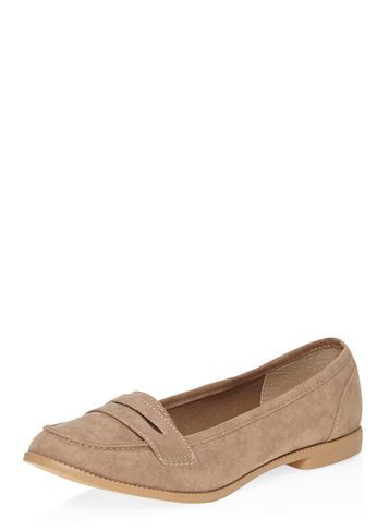 Womens Taupe 'lily' Tab Loafer Shoes Taupe - predominant colour: tan; occasions: casual, work, creative work; material: fabric; heel height: flat; toe: round toe; style: loafers; finish: plain; pattern: plain; season: a/w 2016; wardrobe: highlight