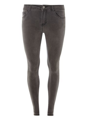 Womens Charcoal Premium 'bailey' Ultra Stretch Skinny Jeans Grey - style: skinny leg; length: standard; pattern: plain; pocket detail: traditional 5 pocket; waist: mid/regular rise; predominant colour: charcoal; occasions: casual; fibres: cotton - stretch; texture group: denim; pattern type: fabric; season: a/w 2016; wardrobe: highlight