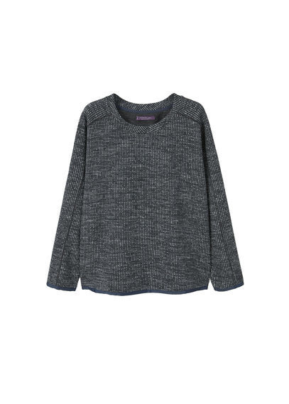 Flecked Sweatshirt - pattern: plain; style: sweat top; predominant colour: charcoal; occasions: casual; length: standard; fibres: wool - mix; fit: body skimming; neckline: crew; sleeve length: long sleeve; sleeve style: standard; pattern type: fabric; texture group: woven light midweight; wardrobe: basic; season: a/w 2016