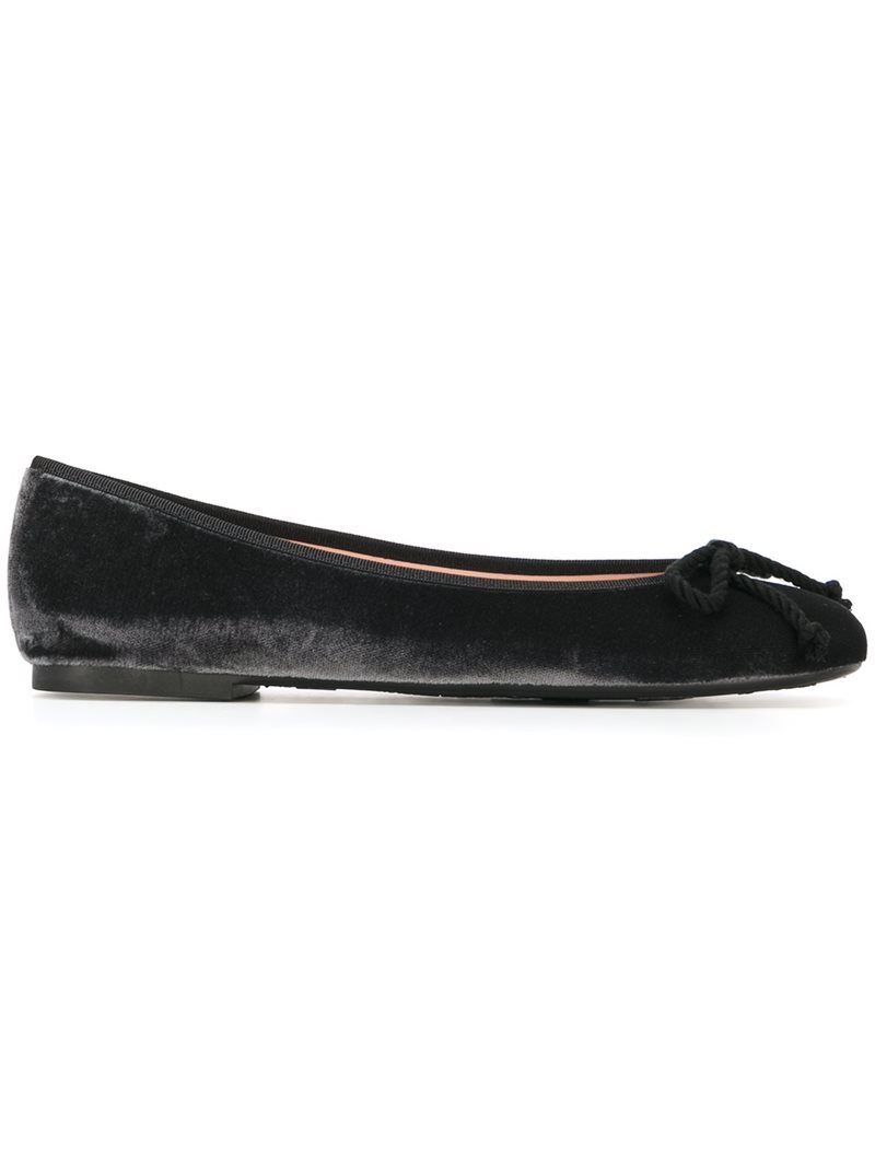 'rosario' Ballerinas, Women's, Black - predominant colour: black; occasions: casual; material: velvet; heel height: flat; toe: round toe; style: ballerinas / pumps; finish: plain; pattern: plain; embellishment: bow; season: a/w 2016