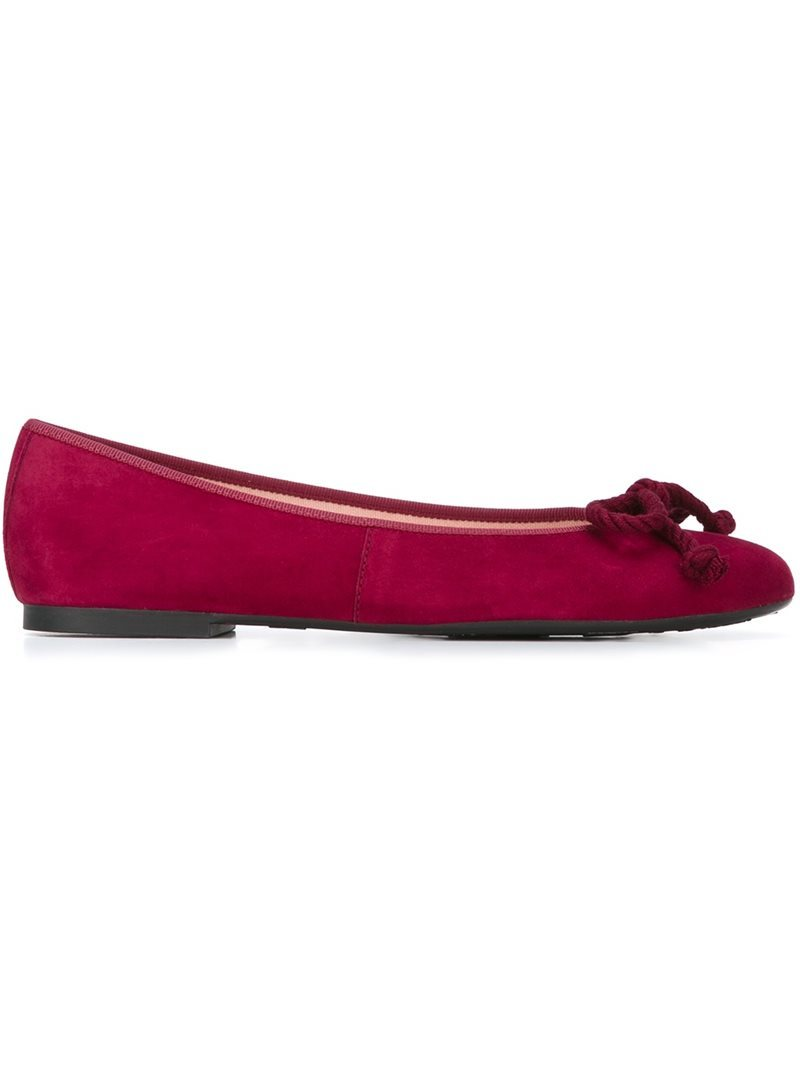 'rosario' Ballerinas, Women's, Pink/Purple - predominant colour: hot pink; occasions: casual; material: suede; heel height: flat; toe: round toe; style: ballerinas / pumps; finish: plain; pattern: plain; embellishment: bow; season: a/w 2016; wardrobe: highlight