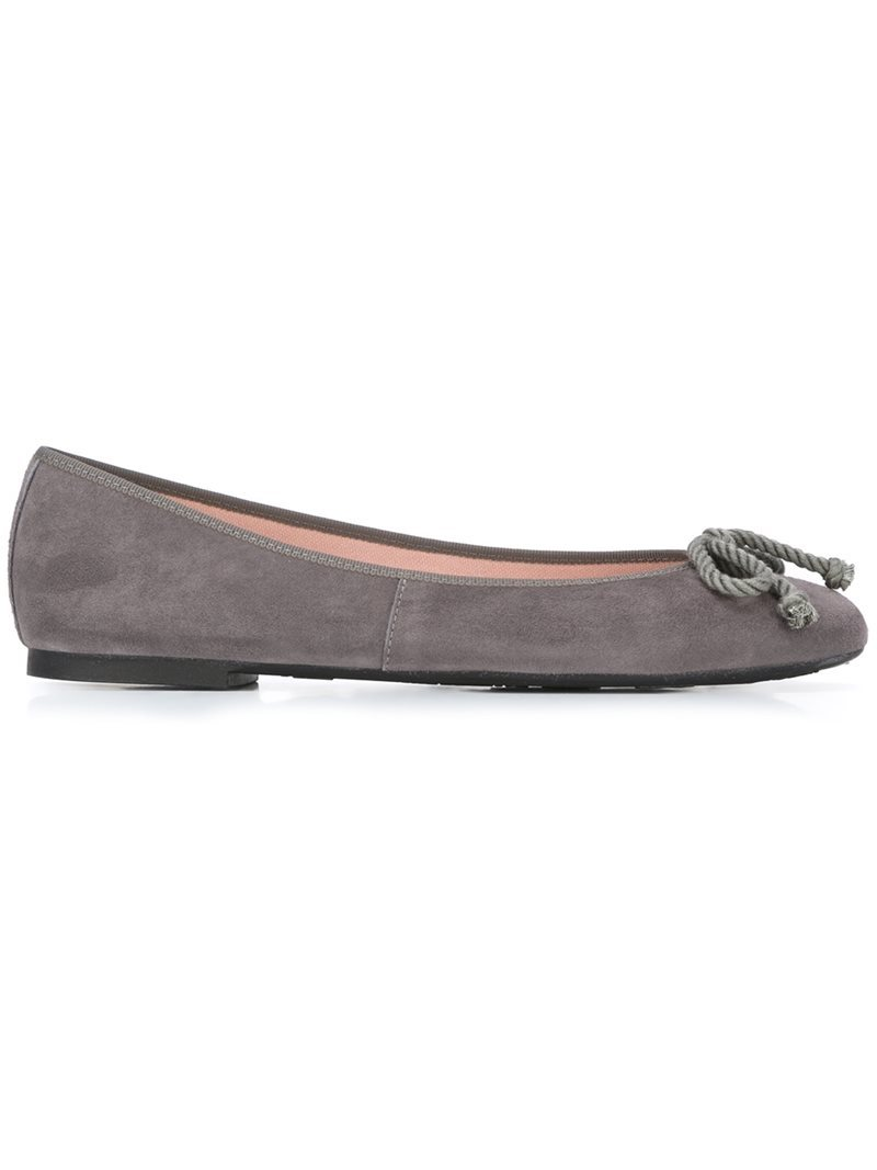 'rosario' Ballerinas, Women's, Grey - predominant colour: mid grey; occasions: casual; material: suede; heel height: flat; toe: round toe; style: ballerinas / pumps; finish: plain; pattern: plain; embellishment: bow; wardrobe: basic; season: a/w 2016