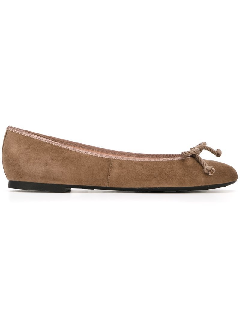 'rosario' Ballerinas, Women's, Nude/Neutrals - predominant colour: camel; occasions: casual, creative work; material: suede; heel height: flat; toe: round toe; style: ballerinas / pumps; finish: plain; pattern: plain; wardrobe: basic; season: a/w 2016