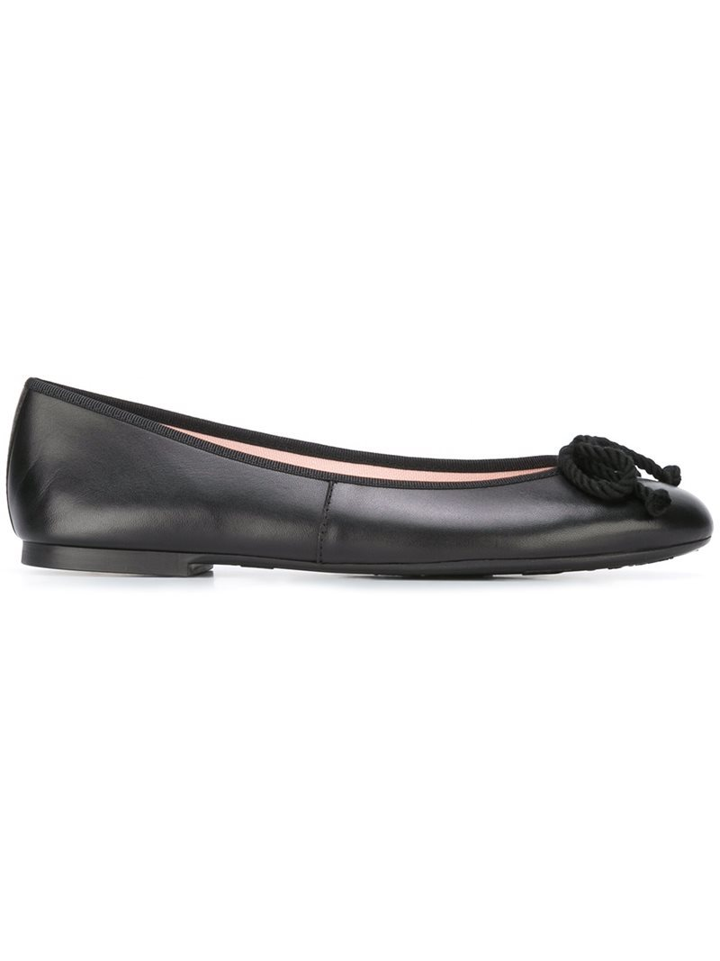 'rosario' Ballerinas, Women's, Black - predominant colour: black; occasions: casual, work, creative work; material: leather; heel height: flat; toe: round toe; style: ballerinas / pumps; finish: plain; pattern: plain; season: a/w 2016