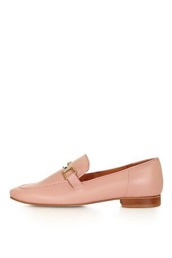 Karter Loafer - predominant colour: pink; occasions: work, creative work; material: leather; heel height: flat; embellishment: snaffles; toe: round toe; style: loafers; finish: plain; pattern: plain; trends: tomboy girl; season: a/w 2016; wardrobe: highlight