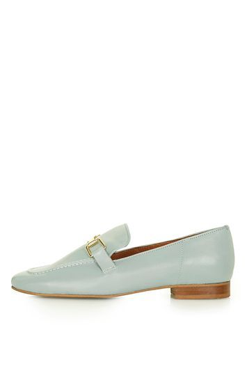 Karter Loafer - predominant colour: pale blue; occasions: work, creative work; material: leather; heel height: flat; embellishment: snaffles; toe: round toe; style: loafers; finish: plain; pattern: plain; trends: tomboy girl; season: a/w 2016; wardrobe: highlight