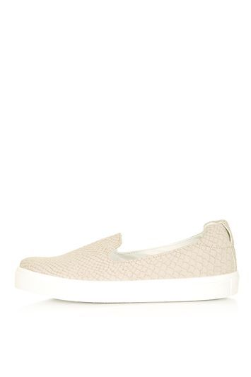 Temp Slip On - secondary colour: white; predominant colour: blush; occasions: casual, creative work; material: fabric; heel height: flat; toe: round toe; finish: plain; pattern: plain; shoe detail: moulded soul; style: skate shoes; season: s/s 2016; wardrobe: highlight