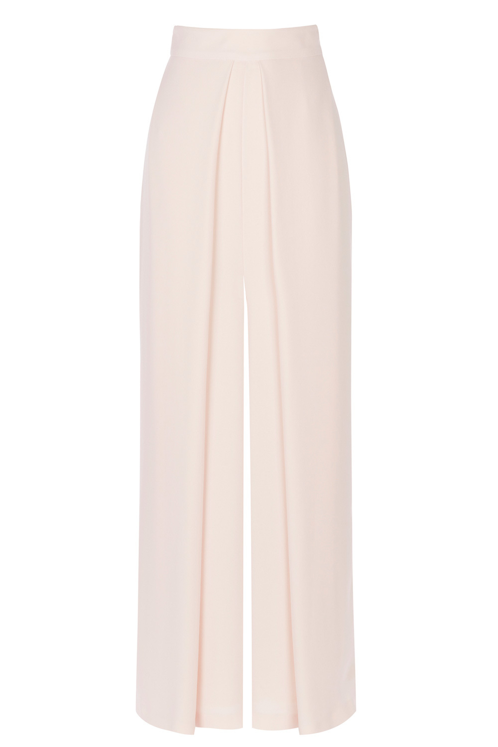 Acra Wide Leg Trousers - length: standard; pattern: plain; waist: high rise; predominant colour: ivory/cream; occasions: evening, occasion; fibres: polyester/polyamide - 100%; texture group: crepes; fit: wide leg; pattern type: fabric; style: standard; pattern size: standard (bottom); season: a/w 2016; wardrobe: event
