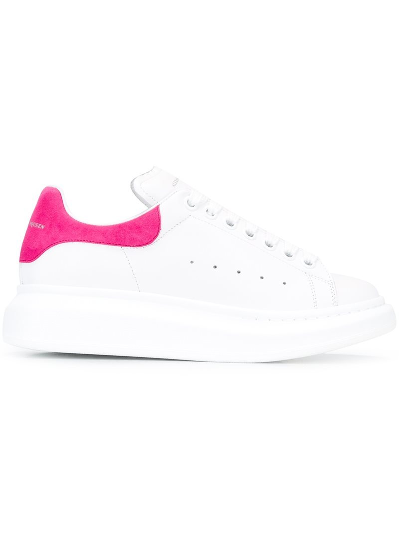 Extended Sole Sneakers, Women's, White - predominant colour: white; secondary colour: hot pink; occasions: casual; material: leather; heel height: flat; toe: round toe; style: trainers; finish: plain; pattern: colourblock; shoe detail: moulded soul; season: a/w 2016