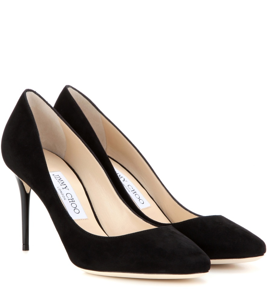 Esme 85 Suede Pumps - predominant colour: black; occasions: evening; material: suede; heel height: high; heel: stiletto; toe: pointed toe; style: courts; finish: plain; pattern: plain; season: a/w 2016