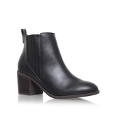 Taurus - predominant colour: black; occasions: casual; material: leather; heel height: mid; heel: block; toe: round toe; boot length: ankle boot; style: standard; finish: plain; pattern: plain; wardrobe: basic; season: a/w 2016