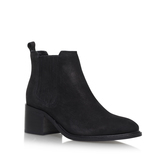 Samba - predominant colour: black; occasions: casual; material: suede; heel height: mid; heel: standard; toe: round toe; boot length: ankle boot; style: standard; finish: plain; pattern: plain; wardrobe: basic; season: a/w 2016