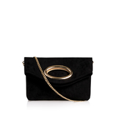 Tia - predominant colour: black; occasions: evening; type of pattern: standard; style: shoulder; length: shoulder (tucks under arm); size: small; material: suede; pattern: plain; finish: plain; embellishment: chain/metal; season: a/w 2016
