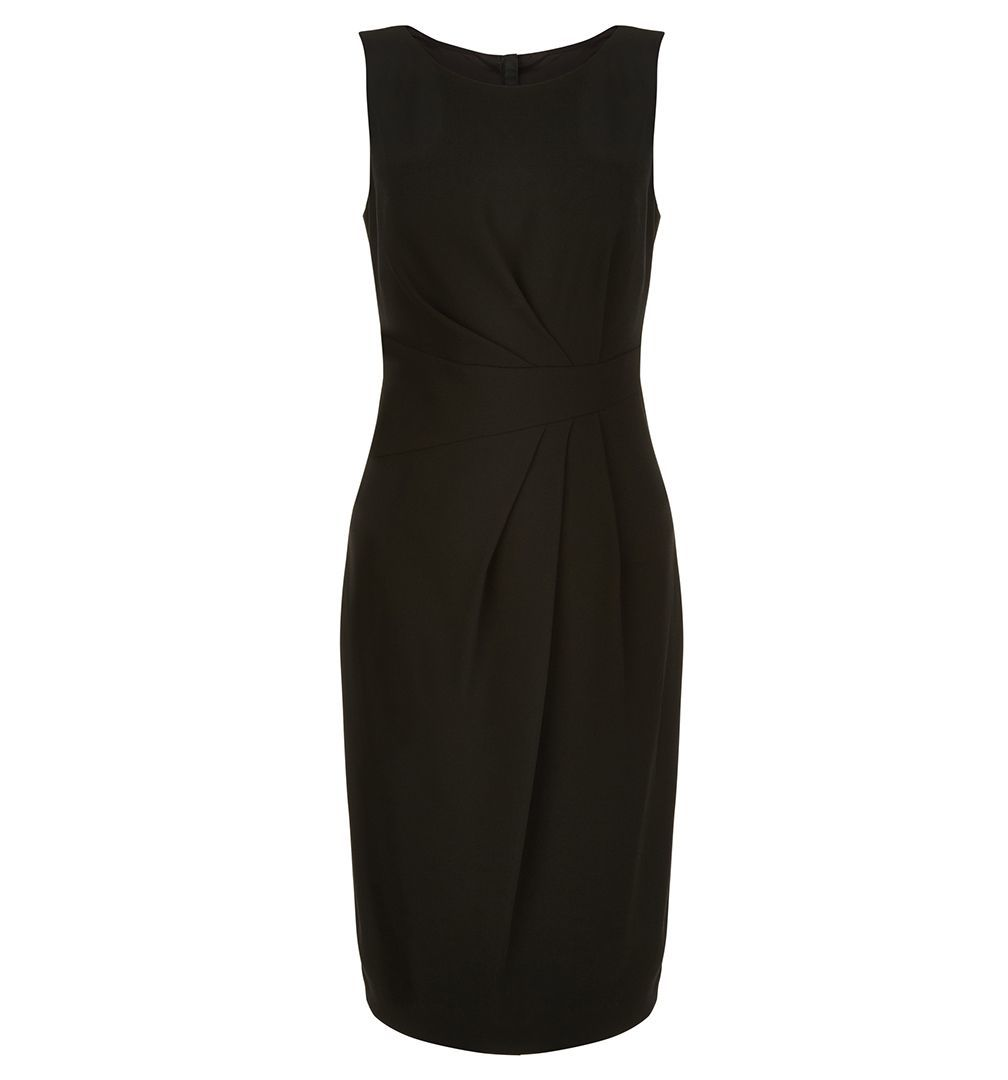 Jolie Dress, Black - style: shift; fit: tailored/fitted; pattern: plain; sleeve style: sleeveless; predominant colour: black; occasions: evening; length: just above the knee; fibres: polyester/polyamide - stretch; neckline: crew; sleeve length: sleeveless; pattern type: fabric; texture group: woven light midweight; season: a/w 2016