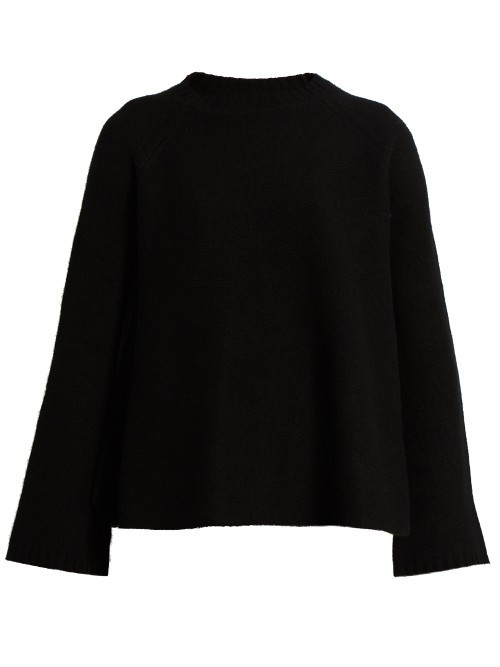 Pegli Sweater - pattern: plain; neckline: high neck; style: standard; predominant colour: black; occasions: casual; length: standard; fit: slim fit; fibres: cashmere - 100%; sleeve length: long sleeve; sleeve style: standard; texture group: knits/crochet; pattern type: fabric; wardrobe: investment; season: a/w 2016