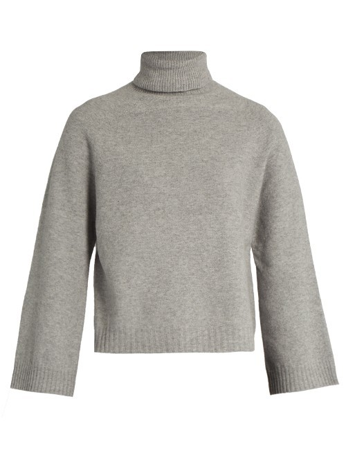 Tessile Sweater - pattern: plain; neckline: roll neck; style: standard; predominant colour: light grey; occasions: casual; length: standard; fibres: wool - mix; fit: standard fit; sleeve length: long sleeve; sleeve style: standard; texture group: knits/crochet; pattern type: fabric; wardrobe: basic; season: a/w 2016