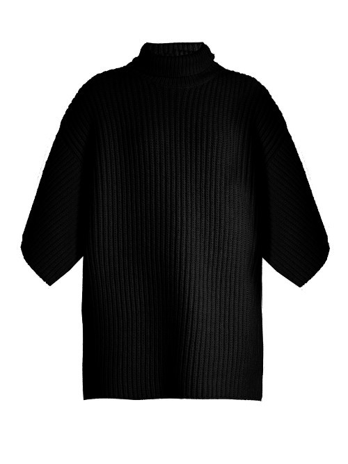 Nambo Sweater - pattern: plain; neckline: roll neck; style: standard; predominant colour: black; occasions: casual; length: standard; fibres: wool - mix; fit: standard fit; sleeve length: 3/4 length; sleeve style: standard; texture group: knits/crochet; pattern type: fabric; wardrobe: basic; season: a/w 2016