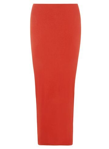 Womens Rust Jersey Skirt Rust - pattern: plain; length: ankle length; fit: body skimming; waist: mid/regular rise; predominant colour: true red; occasions: casual; style: maxi skirt; fibres: viscose/rayon - 100%; texture group: jersey - clingy; pattern type: fabric; season: a/w 2016; wardrobe: highlight