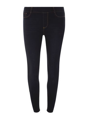 Womens **Tall Blue Black 'eden' Ultra Soft Jeggings Blue - length: standard; pattern: plain; style: leggings; waist: mid/regular rise; predominant colour: navy; occasions: casual; fibres: cotton - stretch; texture group: denim; fit: skinny/tight leg; pattern type: fabric; wardrobe: basic; season: a/w 2016