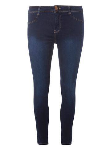 Womens Petite Indigo Frankie Jeggings Blue - length: standard; pattern: plain; waist: mid/regular rise; predominant colour: navy; occasions: casual; fibres: cotton - stretch; texture group: denim; fit: skinny/tight leg; pattern type: fabric; style: standard; wardrobe: basic; season: a/w 2016