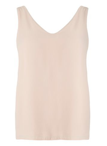 Womens Petite Blush Double Layer Top Pink - neckline: v-neck; pattern: plain; sleeve style: sleeveless; style: vest top; predominant colour: blush; occasions: casual; length: standard; fibres: polyester/polyamide - 100%; fit: body skimming; sleeve length: sleeveless; texture group: sheer fabrics/chiffon/organza etc.; pattern type: fabric; wardrobe: basic; season: a/w 2016