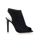 Levona2 - predominant colour: navy; occasions: evening; material: suede; heel: stiletto; toe: open toe/peeptoe; boot length: shoe boot; style: standard; finish: plain; pattern: plain; heel height: very high; season: a/w 2016; wardrobe: event