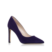 Tatiana - predominant colour: navy; occasions: evening, work, occasion; material: suede; heel height: high; heel: stiletto; toe: pointed toe; style: courts; finish: plain; pattern: plain; wardrobe: investment; season: a/w 2016