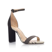 Mairana - predominant colour: black; occasions: casual, holiday; material: faux leather; heel height: high; ankle detail: ankle strap; heel: block; toe: open toe/peeptoe; style: standard; finish: plain; pattern: animal print; season: a/w 2016; wardrobe: highlight