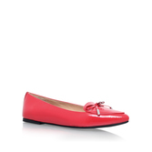 Nancy Flat - predominant colour: true red; occasions: casual; material: leather; heel height: flat; toe: pointed toe; style: ballerinas / pumps; finish: patent; pattern: plain; embellishment: bow; season: a/w 2016