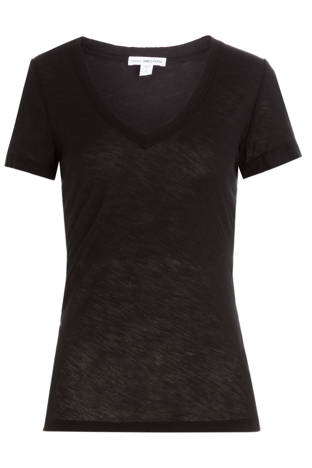 Cotton T Shirt Black - neckline: v-neck; pattern: plain; style: t-shirt; predominant colour: black; occasions: casual; length: standard; fibres: cotton - 100%; fit: body skimming; sleeve length: short sleeve; sleeve style: standard; pattern type: fabric; texture group: jersey - stretchy/drapey; wardrobe: basic; season: a/w 2016