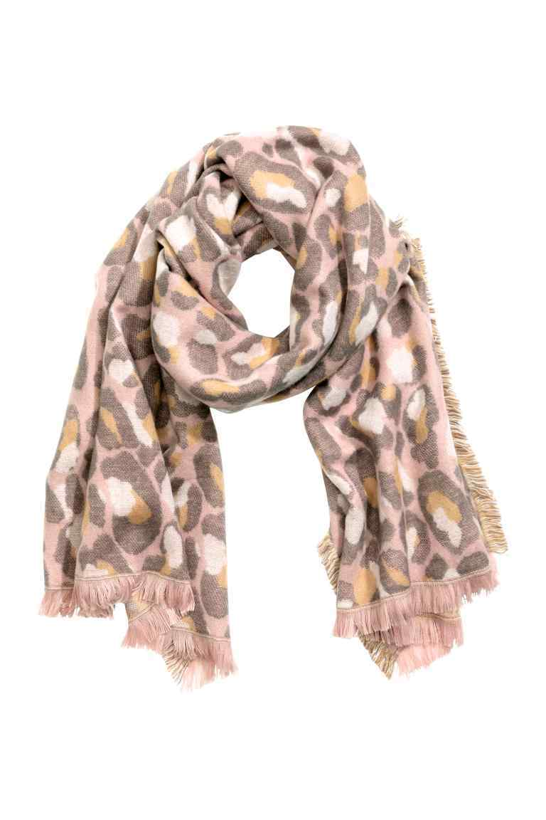Jacquard Weave Scarf - secondary colour: taupe; predominant colour: stone; occasions: casual, creative work; type of pattern: large; style: regular; size: standard; material: fabric; pattern: patterned/print; season: a/w 2016; wardrobe: highlight