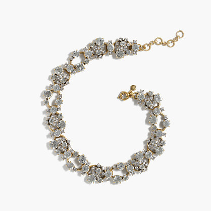 Crystal Chain Necklace - predominant colour: silver; secondary colour: gold; occasions: evening, occasion; style: choker/collar/torque; length: short; size: standard; material: chain/metal; finish: metallic; embellishment: crystals/glass; season: a/w 2016; wardrobe: event