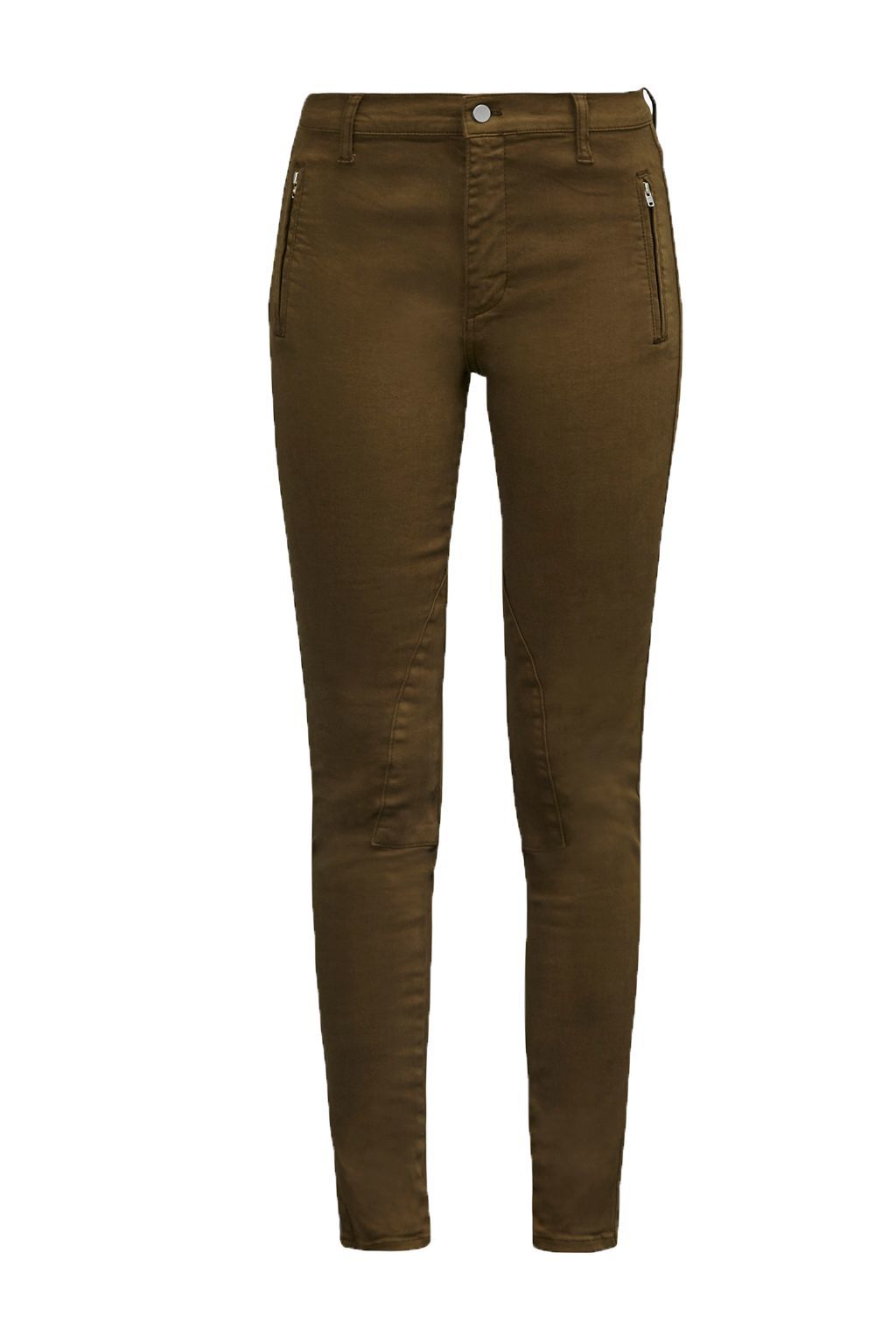 The Rebound Jodhpur Jeans, Green - style: skinny leg; length: standard; pattern: plain; waist: mid/regular rise; predominant colour: khaki; occasions: casual; fibres: cotton - stretch; texture group: denim; pattern type: fabric; season: a/w 2016