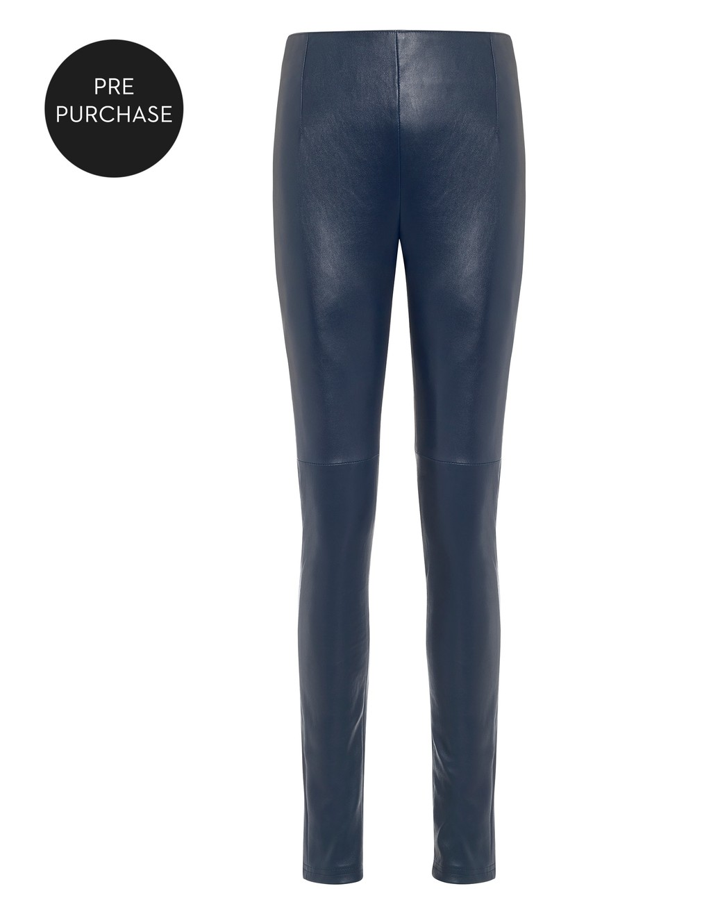 High Rise Full Leather Legging - length: standard; pattern: plain; waist: mid/regular rise; predominant colour: navy; occasions: casual, creative work; fibres: leather - 100%; texture group: leather; fit: skinny/tight leg; pattern type: fabric; style: standard; season: a/w 2016; wardrobe: highlight