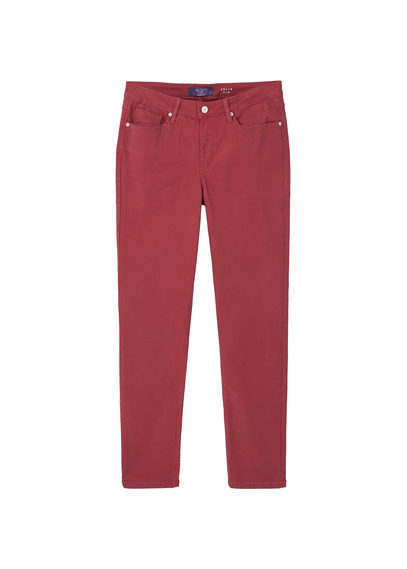 Slim Fit Julia Jeans - length: standard; pattern: plain; pocket detail: traditional 5 pocket; style: slim leg; waist: mid/regular rise; predominant colour: hot pink; occasions: casual; fibres: cotton - stretch; texture group: denim; pattern type: fabric; season: a/w 2016; wardrobe: highlight