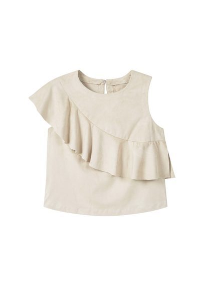 Ruffle Top - neckline: round neck; pattern: plain; sleeve style: sleeveless; predominant colour: ivory/cream; occasions: casual, evening, creative work; length: standard; style: top; fibres: polyester/polyamide - stretch; fit: body skimming; sleeve length: sleeveless; bust detail: tiers/frills/bulky drapes/pleats; pattern type: fabric; texture group: other - light to midweight; season: a/w 2016