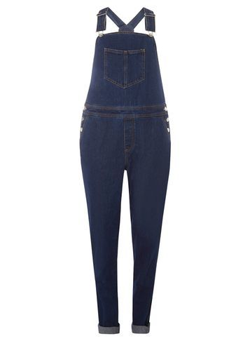 Womens Wash Indigo Denim Skinny Dungaree Blue - length: standard; sleeve style: standard vest straps/shoulder straps; pattern: plain; predominant colour: navy; occasions: casual; fit: body skimming; fibres: cotton - 100%; sleeve length: sleeveless; texture group: denim; style: dungarees; neckline: medium square neck; pattern type: fabric; season: a/w 2016; wardrobe: highlight