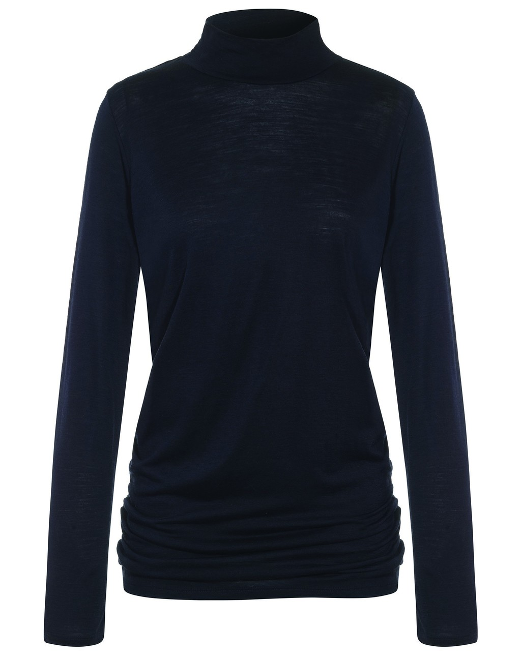 Luxe Polo Neck Top - pattern: plain; neckline: high neck; predominant colour: black; occasions: casual; length: standard; style: top; fibres: wool - 100%; fit: body skimming; sleeve length: long sleeve; sleeve style: standard; pattern type: fabric; texture group: jersey - stretchy/drapey; wardrobe: basic; season: a/w 2016