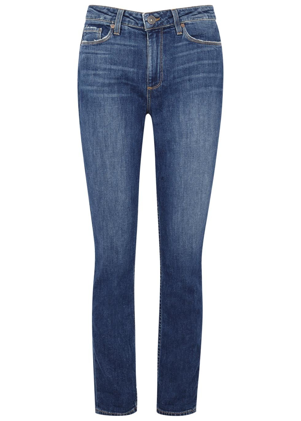 Carter Blue Slim Leg Jeans - length: standard; pattern: plain; pocket detail: traditional 5 pocket; style: slim leg; waist: mid/regular rise; predominant colour: denim; occasions: casual, evening, creative work; fibres: cotton - stretch; texture group: denim; pattern type: fabric; wardrobe: basic; season: a/w 2016
