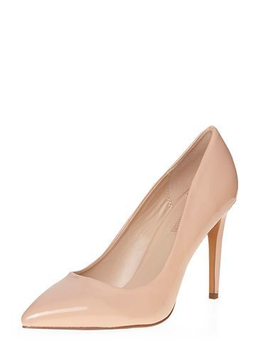 Womens Nude 'emily' Pointed Court Shoes Nude. - predominant colour: nude; occasions: evening, occasion, creative work; material: faux leather; heel: stiletto; toe: pointed toe; style: courts; finish: plain; pattern: plain; heel height: very high; season: a/w 2016; wardrobe: highlight