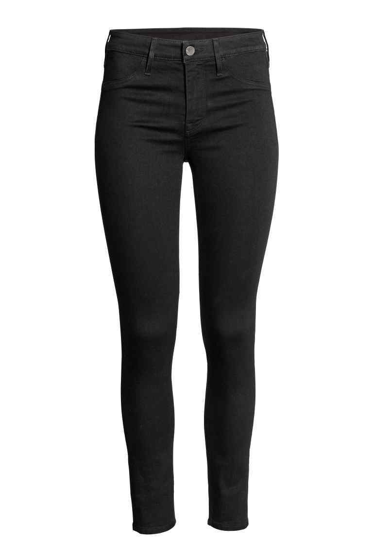 Skinny Regular Ankle Jeans - style: skinny leg; length: standard; pattern: plain; pocket detail: traditional 5 pocket; waist: mid/regular rise; predominant colour: black; occasions: casual; fibres: cotton - stretch; texture group: denim; pattern type: fabric; wardrobe: basic; season: a/w 2016