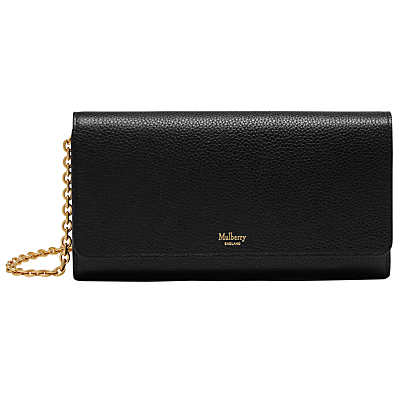 Continental Small Classic Grain Clutch Wallet - predominant colour: black; occasions: evening, occasion; type of pattern: standard; style: clutch; length: hand carry; size: standard; material: leather; pattern: plain; finish: plain; season: a/w 2016; wardrobe: event
