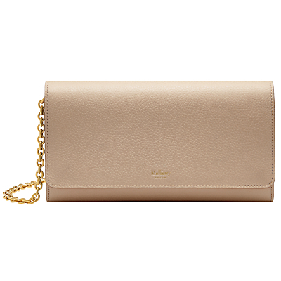 Continental Small Classic Grain Clutch Wallet - predominant colour: nude; occasions: evening, occasion; type of pattern: standard; style: clutch; length: hand carry; size: standard; material: leather; pattern: plain; finish: plain; season: a/w 2016; wardrobe: event