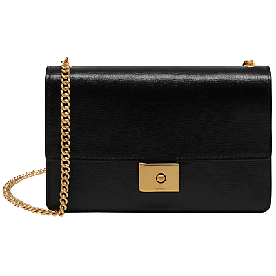 Cheyne Printed Goat Leather Clutch Bag - secondary colour: gold; predominant colour: black; occasions: evening, occasion; type of pattern: standard; style: clutch; length: across body/long; size: standard; material: leather; pattern: plain; finish: plain; season: a/w 2016; wardrobe: event