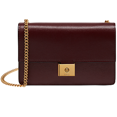 Cheyne Printed Goat Leather Clutch Bag - predominant colour: burgundy; occasions: evening, occasion; type of pattern: standard; style: clutch; length: across body/long; size: standard; material: leather; pattern: plain; finish: plain; season: a/w 2016; wardrobe: event