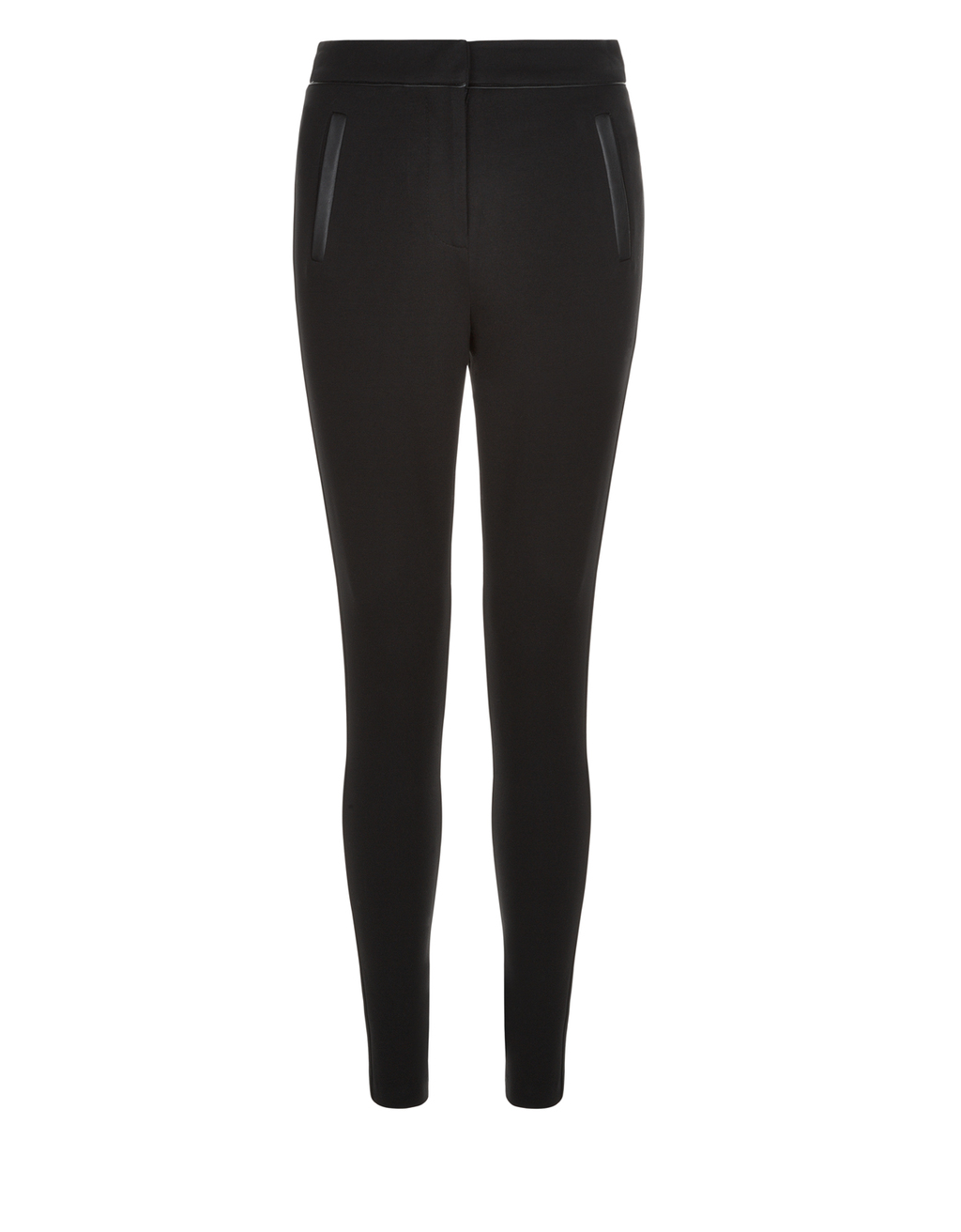 Patsy Ponte Legging - length: standard; pattern: plain; style: leggings; waist: mid/regular rise; predominant colour: black; occasions: casual; fibres: polyester/polyamide - 100%; texture group: jersey - clingy; fit: skinny/tight leg; pattern type: fabric; wardrobe: basic; season: a/w 2016