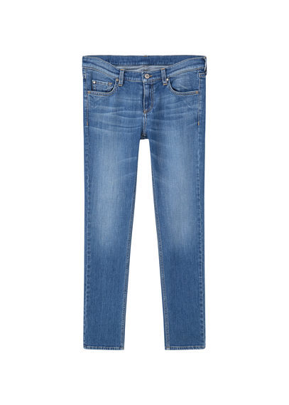 Straight Alice Jeans - style: straight leg; length: standard; pattern: plain; pocket detail: traditional 5 pocket; waist: mid/regular rise; predominant colour: denim; occasions: casual; fibres: cotton - stretch; jeans detail: whiskering, shading down centre of thigh; texture group: denim; pattern type: fabric; wardrobe: basic; season: a/w 2016