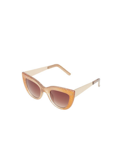 Purpurine Sunglasses - predominant colour: bright orange; occasions: casual, holiday; style: cateye; size: large; material: plastic/rubber; pattern: plain; finish: plain; season: a/w 2016; wardrobe: highlight