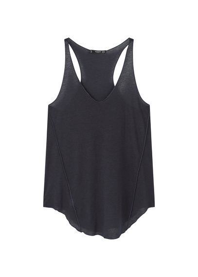 Essential Strap Top - neckline: v-neck; pattern: plain; sleeve style: sleeveless; style: vest top; predominant colour: black; occasions: casual; length: standard; fibres: polyester/polyamide - mix; fit: body skimming; sleeve length: sleeveless; pattern type: fabric; texture group: jersey - stretchy/drapey; wardrobe: basic; season: a/w 2016